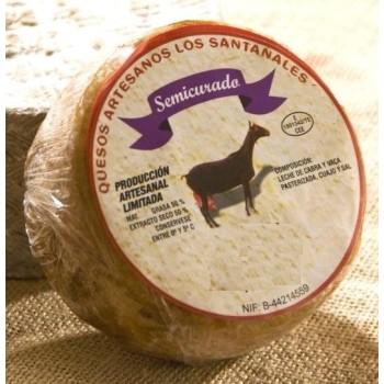 Queso de Mezcla Cabra-Vaca Semicurado Los Santanales
